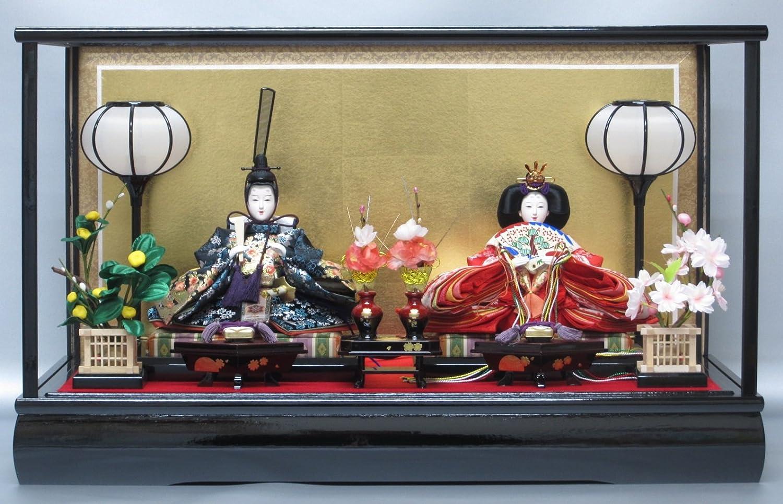 京寿 雛人形 親王飾り ケース飾り 間口62×奥行39×高さ38cm YN0209HC ケース入り 桃の節句 ひな人形   B01MS6EDJ7