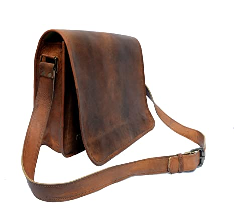 546ccccab6d4 Image Unavailable. Image not available for. Color  IndianHandoArt 13 inch  Leather Real Messenger Bag Laptop ...