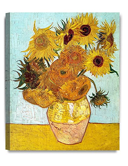 Decorarts Twelve Sunflowers Vincent Van Gogh Art Reproduction Giclee Canvas Prints Wall Art For Home Decor 20x16