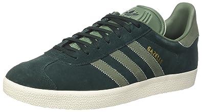 lowest price 5257c 218ae adidas Damen Gazelle Sneakers Grau Night F17 trace Green S17 gold Met, 39