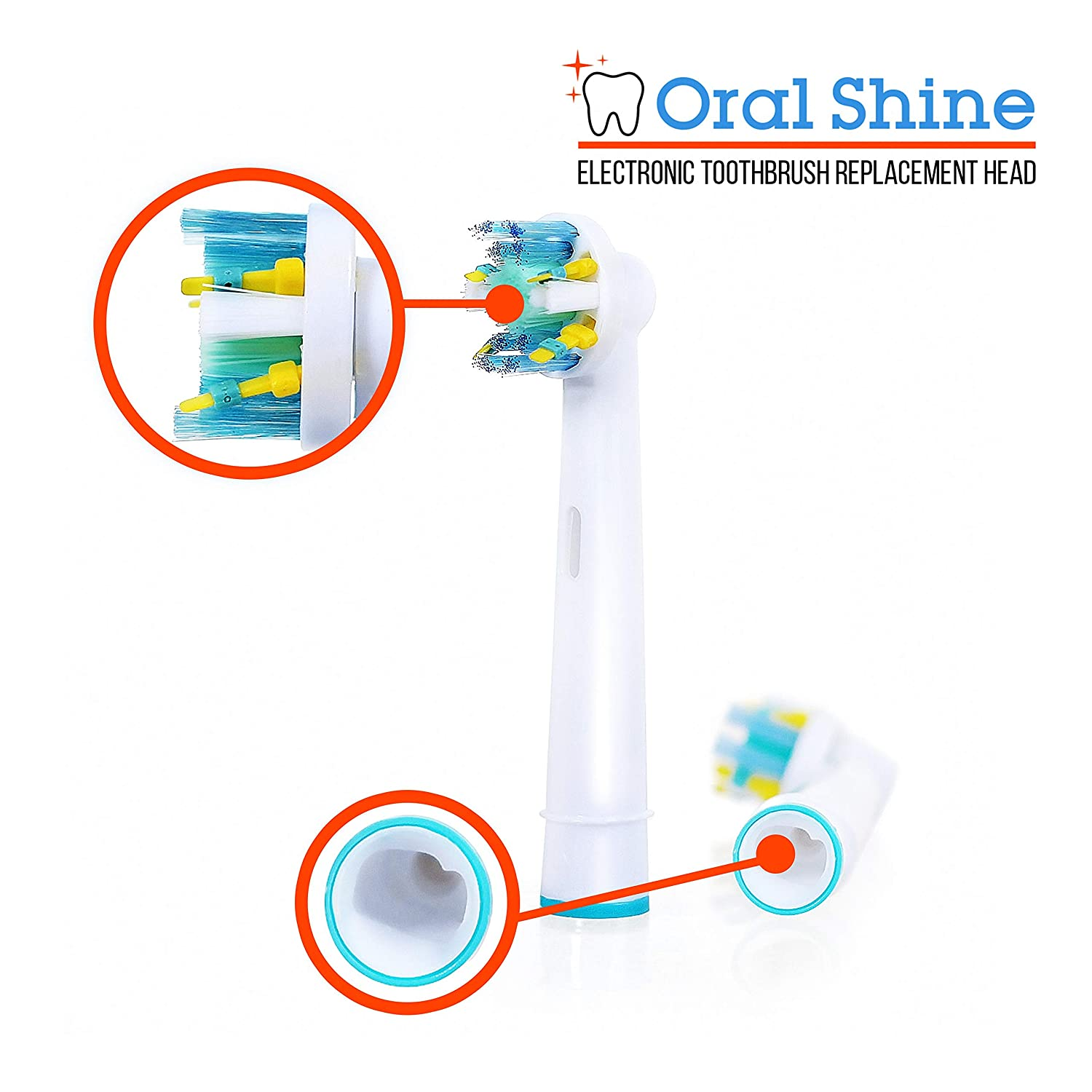 Oral Shine Electric Toothbrush Replacement Heads Compatible with OralB Electric Toothbrushes  4