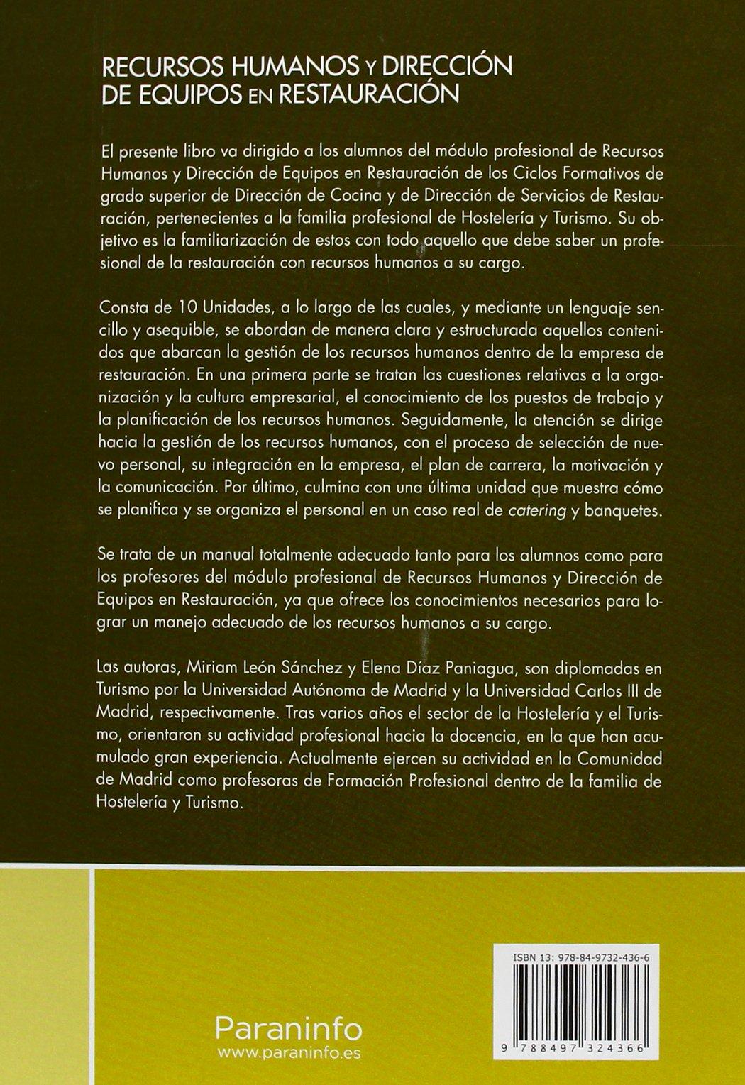 Recursoshumanosydireccióndeequiposenrestauración Elena Díaz