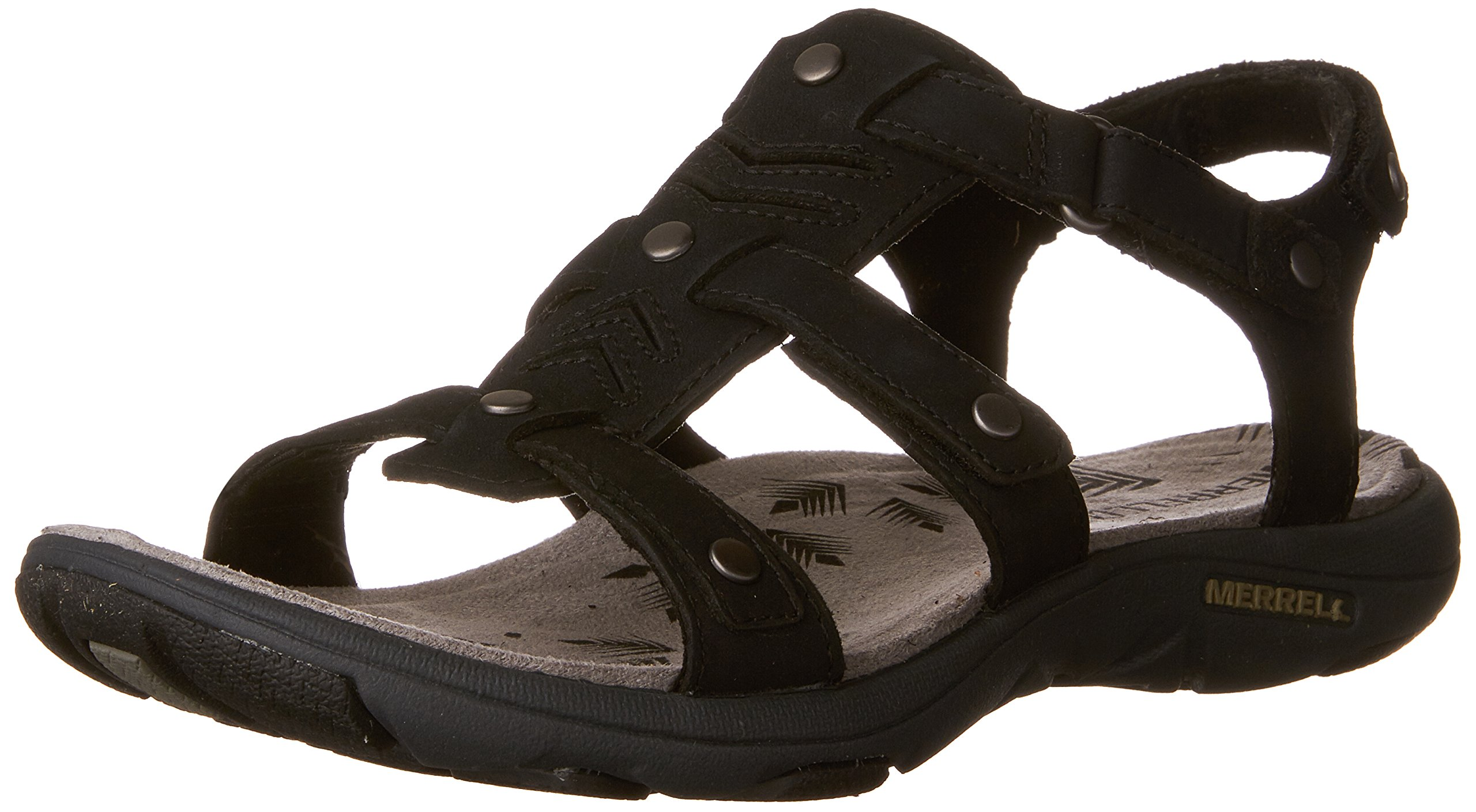 Merrell Women's Adhera Three Athletic Sandal, Black, 6 M US