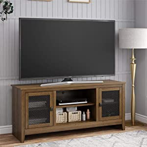 Ameriwood Home Stone Brook, Brown Oak Brookstone Stand for TVs up to 65