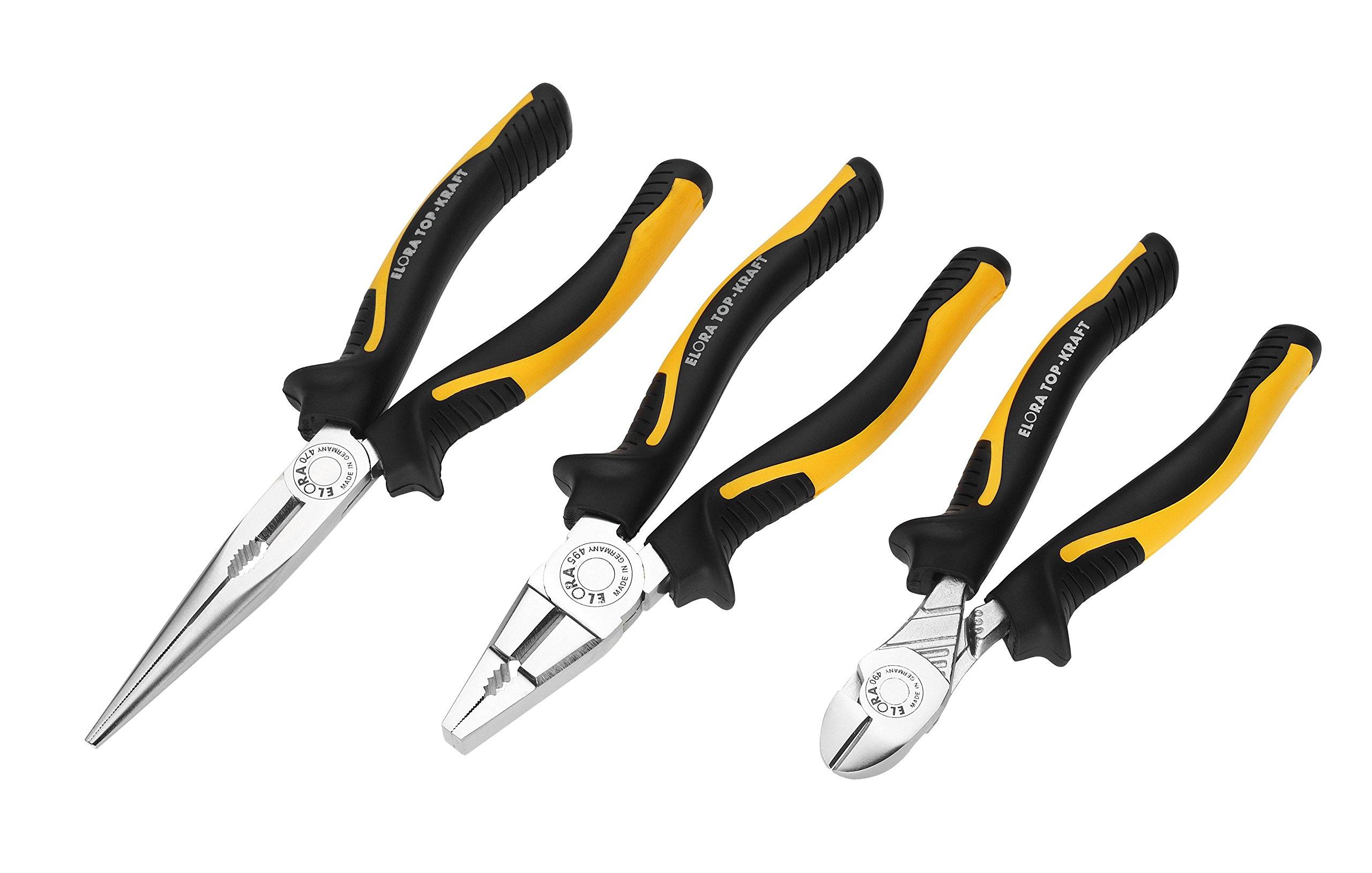 Elora 404500301000 Mechanic's pliers set with 2C-handles (3 piece)