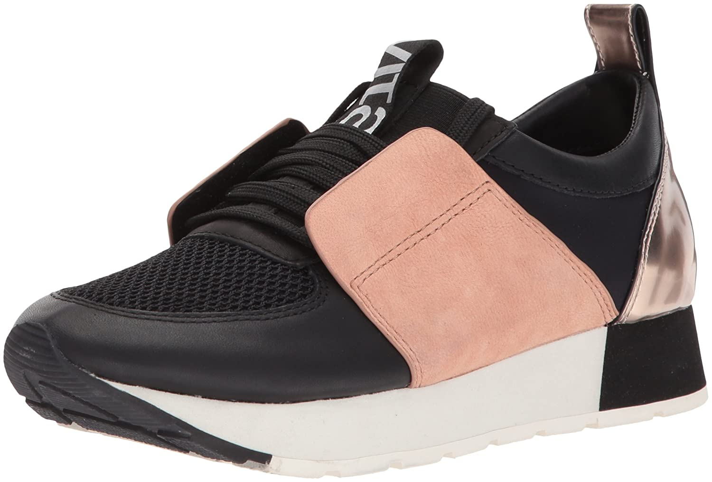 Dolce Vita Women's Yana Sneaker B0744R1XWQ 9.5 B(M) US|Black/Nude Leather