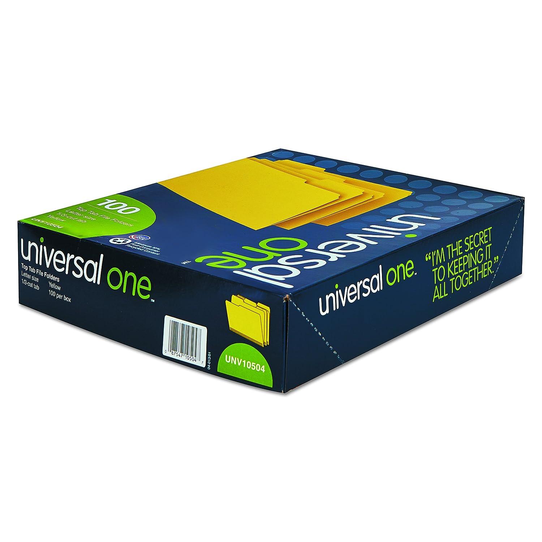Blue//Light Blue Universal 10501 File Folders 1//3 Cut One-Ply Top Tab Box of 100 Letter