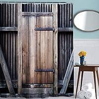 Résistant à l'eau Mildew résistant à longue vie clôture porte en bois style rideau de douche moderne par ToHa