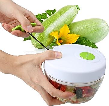 teamyy verduras fruta comida chopper Chopper multifunción Robot de cocina Carne Chopper Shredder cortar Cutter Cortes mezclar con 3 cuchillas: Amazon.es: Electrónica