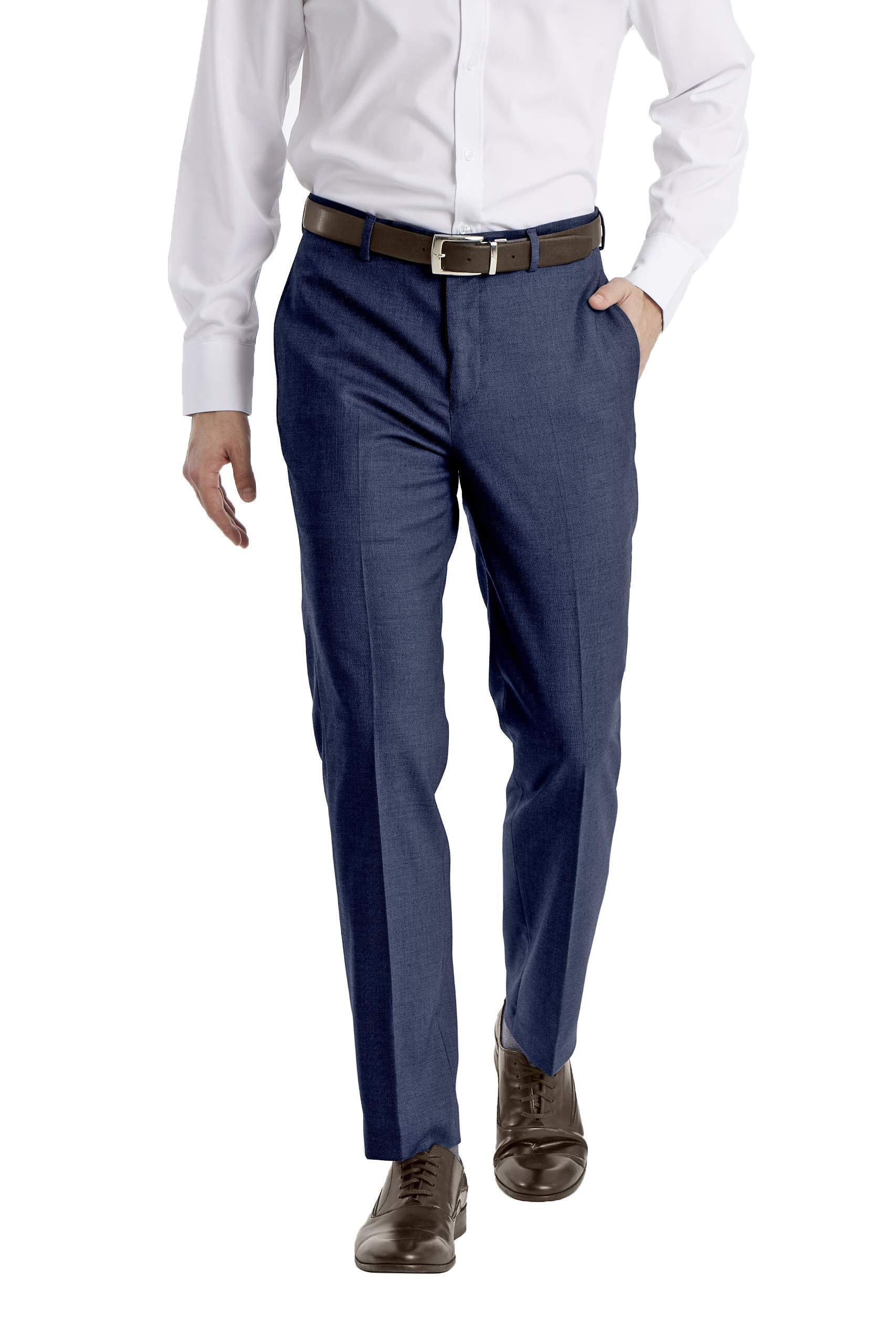 Calvin Klein Men's Slim Fit Stretch Suit Separates-Custom Jacket & Pant Size Selection, Blue Pant, 34W x 34L by Calvin Klein