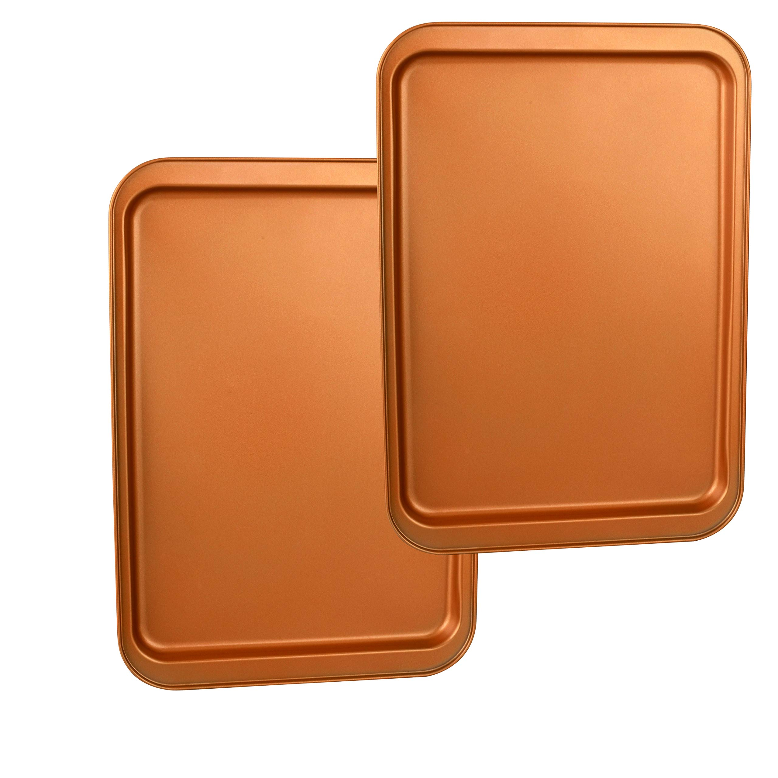 CopperKitchen Baking Pans - 3 pcs Toxic Free NONSTICK - Organic Environmental Friendly Premium Coating - Durable Quality - Rectangle Pan, Cookie Sheet - BAKEWARE SET (3) by CopperKitchenUSA (Image #7)