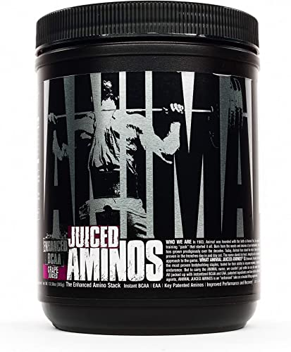 Animal Juiced Aminos – 6g BCAA EAA Matrix Plus 4g Amino Acid Blend for Recovery and Improved Performance – Grape- 30 Servings