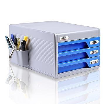 Amazoncom Locking Drawer Cabinet Desk Organizer Home Office