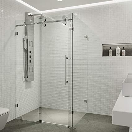 Superieur VIGO Winslow 36 X 48 In. Frameless Sliding Shower Enclosure With .375