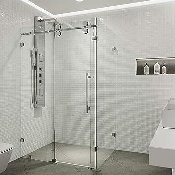 Vigo 36 X 48 Frameless Rectangular Sliding Shower Door Enclosure