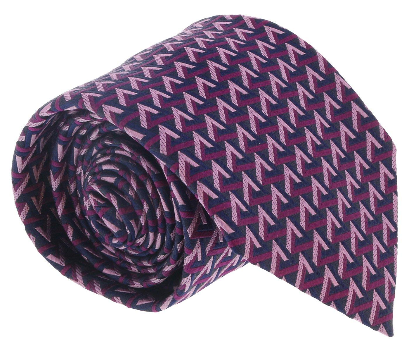 Ermenegildo Zegna Magenta Geometric Tie for mens