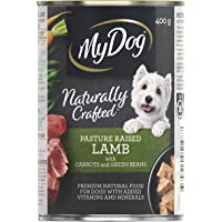 MY DOG Naturally Crafted Wet Dog Food Lamb 400g Can, 24 Pack, Adult, Small/Medium