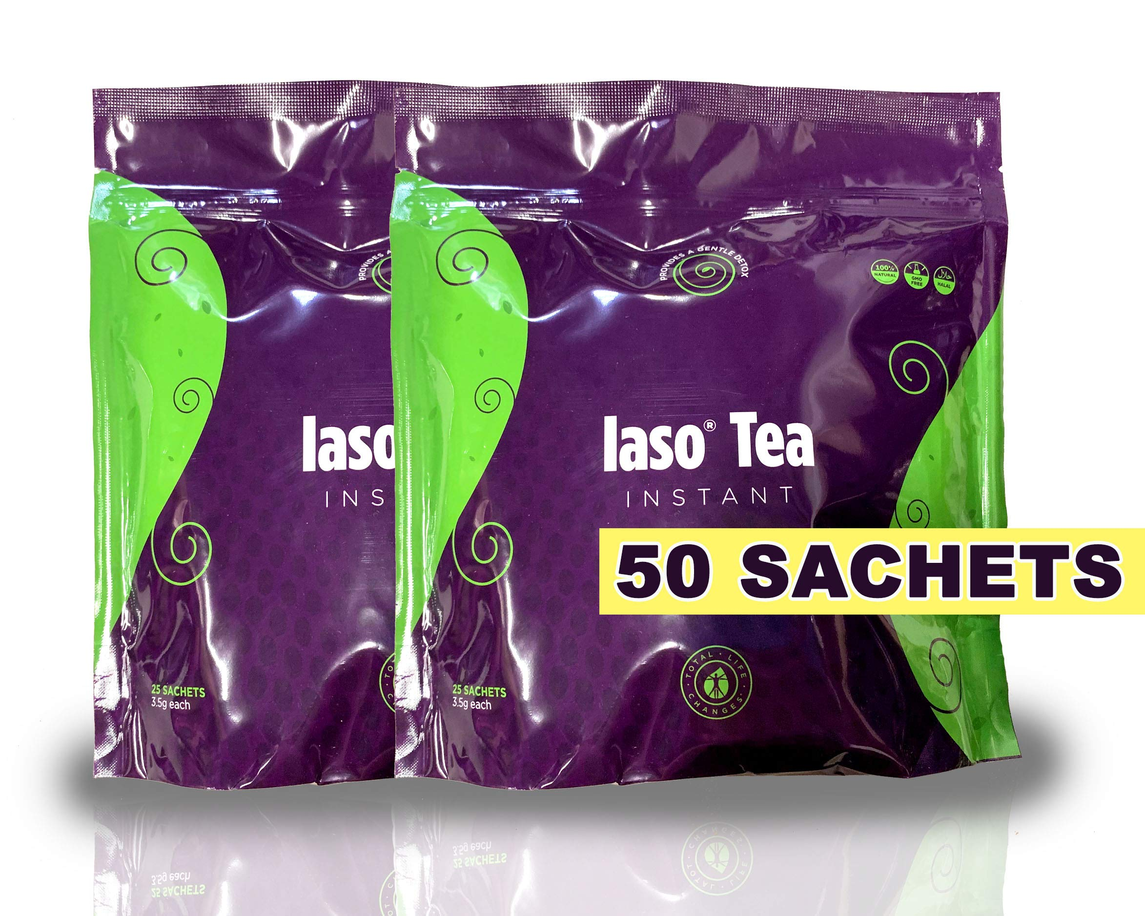 TLC Total Life Changes IASO Natural Detox Instant Herbal Tea (50 Sachets) Packaging May Vary Between Old & New in 201 by Total Life Changes