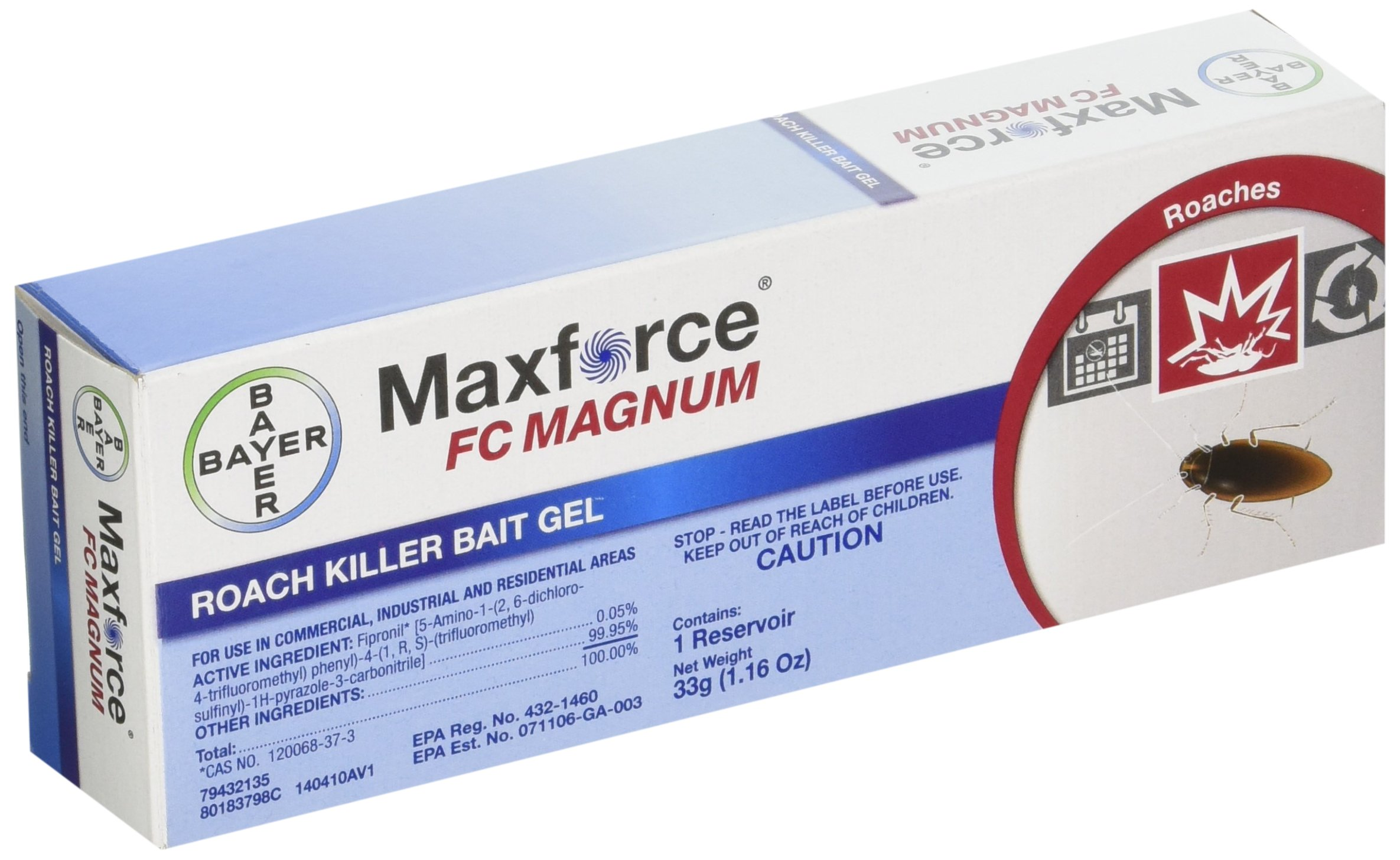 Bayer Maxforce FC Magnum Roach Killer Bait Gel, 1.16 oz.