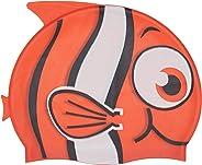 Touca Silicone Touquinha Infantil Peixinho Vermelho Esporte Natação Piscina Nadar Menino Menina Promoção Liquidação Oferta