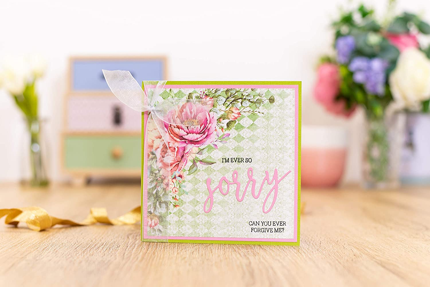 Crafters Companion GEM-STD-WIDS Gemini Fancy Font Stamp /& Die Set with Deepest Sympathy Nylon//a us:one Size