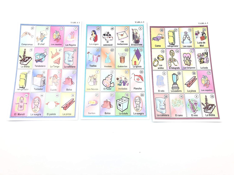 in Spanish Loter/ía Futura Novia Bachelorette Party Bingo 10 Players Jimmy/'s Toys