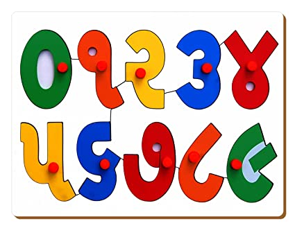 The Kiddy Depot - Gujarati Counting Puzzle 0 to 9 Number Wooden Board