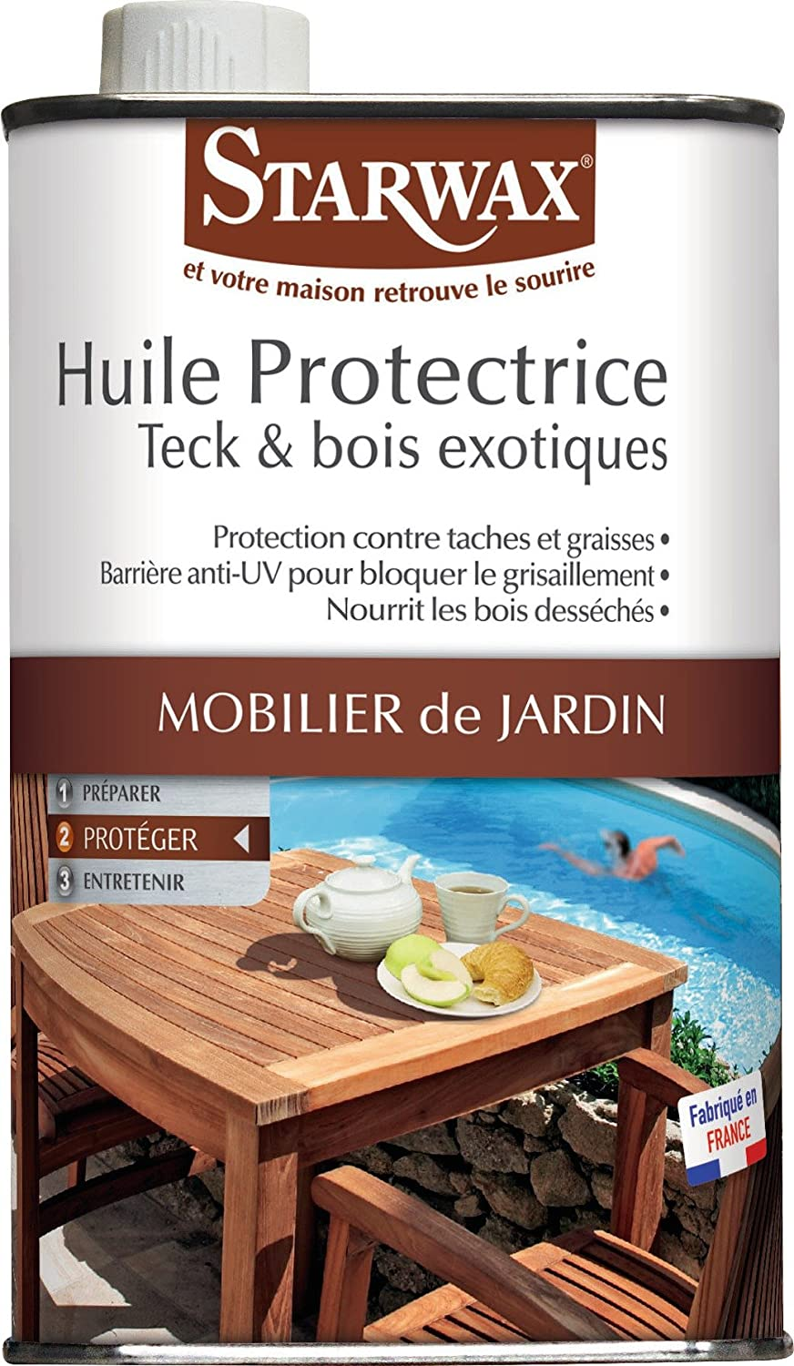 STARWAX Huile protectrice Bois exte.Teck 500ml BRUNEL