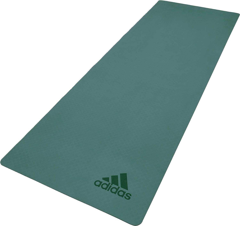 variedad de diseños y colores proveedor oficial comprar lo mejor adidas Premium Yoga Mat, Raw Green, 5 mm: Amazon.co.uk: Sports ...
