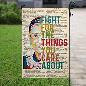 BYRON HOYLE Garden Flag, Fight for The Things You Care About Flag RGB Flag Equality Flag Justice Flag Civil Rights Flag Outdoor Yard Flag Farmhouse Decor Yard Holiday Seasonal Outdoor Indoor Decor
