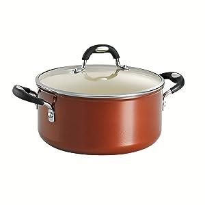 Tramontina 80110/050DS Style Ceramica 01 Covered Dutch Oven, 5-Quart, Metallic Copper