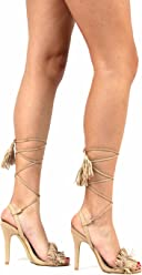 0639531269569 Static Fashion Womens Strappy Lace Up High Heel Fringe Sandals