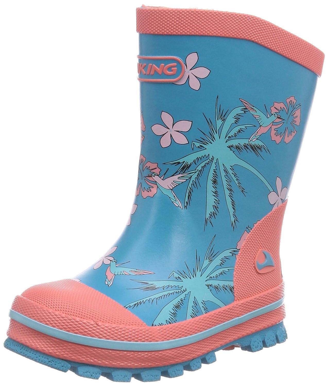 Viking Flora - Botas de Goma para Niña, Color Azul, Talla 29
