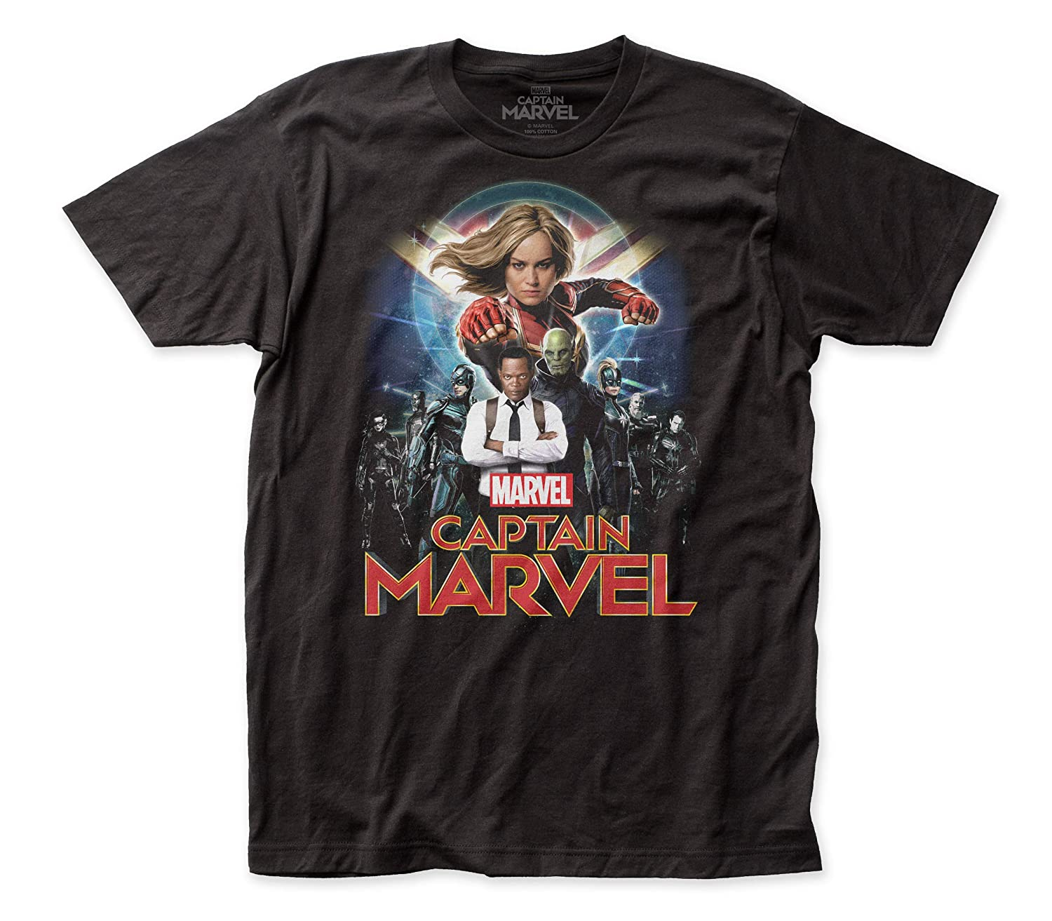 Captain Marvel Group Shot Fitted Jersey tee