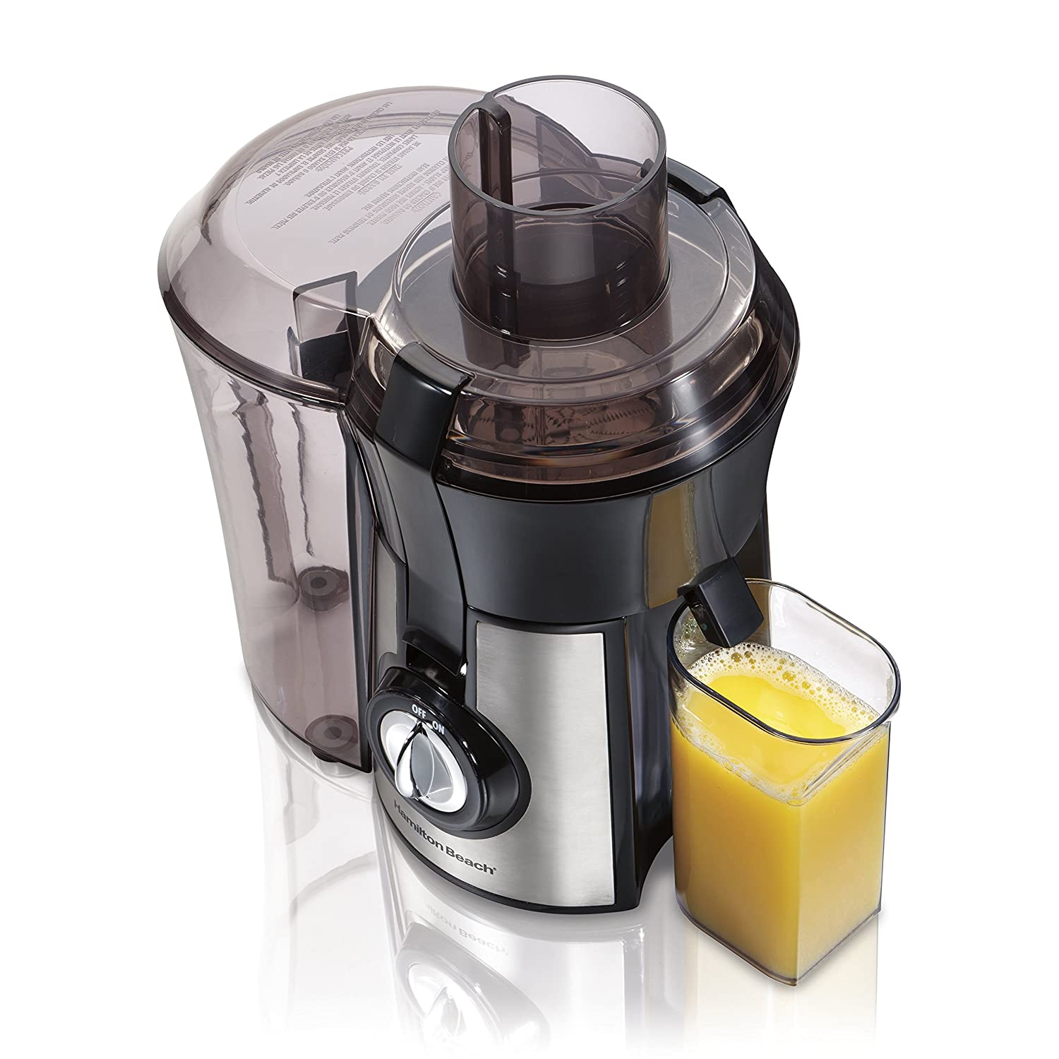 Hamilton-Beach 67608A Big Mouth Juice Extractor, Metallic Hamilton Beach