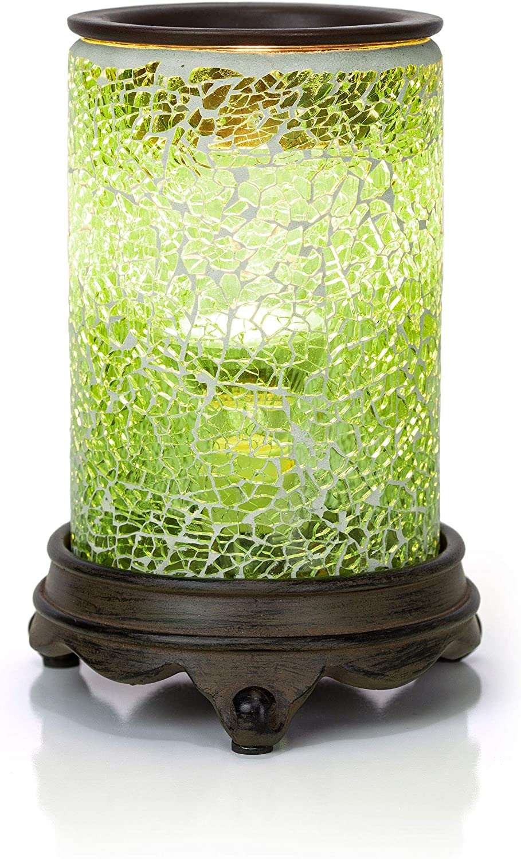 VP Home Mosaic Glass Fragrance Warmer (Radiant Jade)