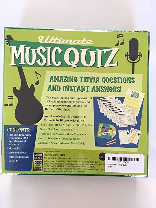 Ultimate Music Quiz - Name That Song Category On CD - Includes 1,900  Questions Over 10 Trivia Categories by Lagoon Games