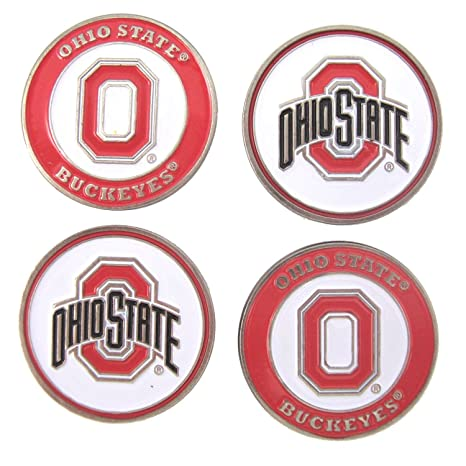 8e507d6054f Amazon.com   Ohio State Buckeyes Golf Ball Markers (Set of 4 ...