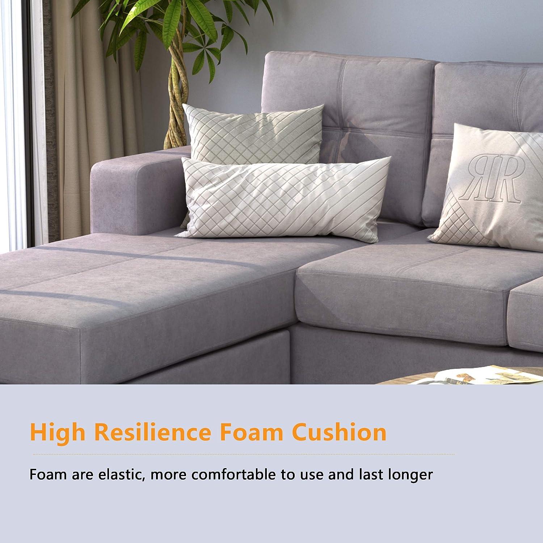 Amazon.com: BEIZ TRADING Conjunto de sofá seccional con ...