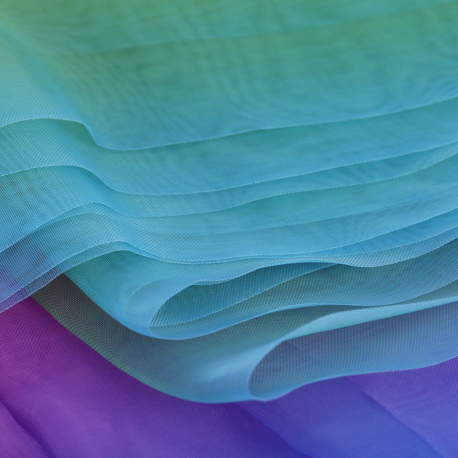 BBTO 16 Feet by 54 Inch Rainbow Organza Multicolored Voile Dress Fabric Fancy Costumes Decorations by BBTO (Image #5)