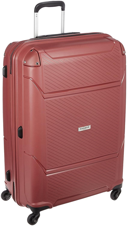 [サンコー] RUDDER スーツケース ラダー 大型 ダブルファスナー 容量90L 縦サイズ75cm 重量4.6kg RD02-72 B01LWTXBTP  レッド