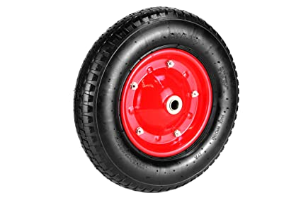 Rueda carretilla rueda neumático de aire 40 cm de diámetro – rueda de repuesto carretilla carretilla