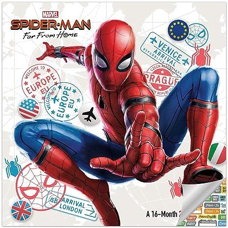 Amazon.com: Calendario de pared de Spiderman 2020 Set ...