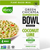 Vana Life's Foods Plant-based Emergency Microwaved Cooked Meal - Green Chickpea Super food Bowl Heat and Eat with…