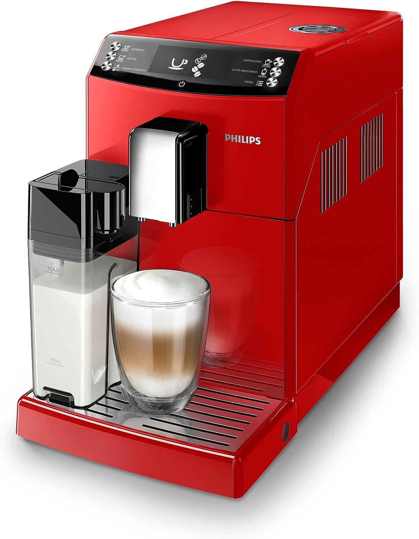 Philips 3100 series EP3363/10 - Cafetera (Independiente, Máquina espresso, 1,8 L, Granos de café, Molinillo integrado, Rojo): Amazon.es: Hogar