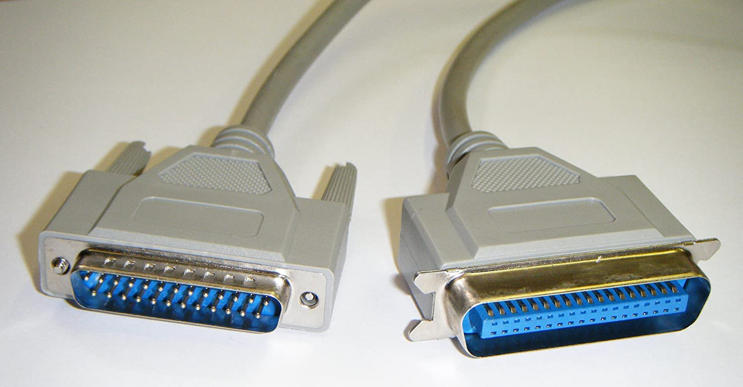 MHP/® Parallel Centronics Printer Cable DB25 Male to C36 Male 2m Lead