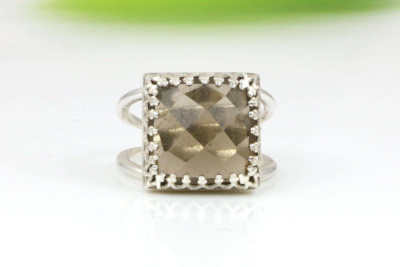 Smoky quartz ring, silver ring, sterling ring, smoky ring, brown ring, gemstone ring, brown quartz, wedding ring
