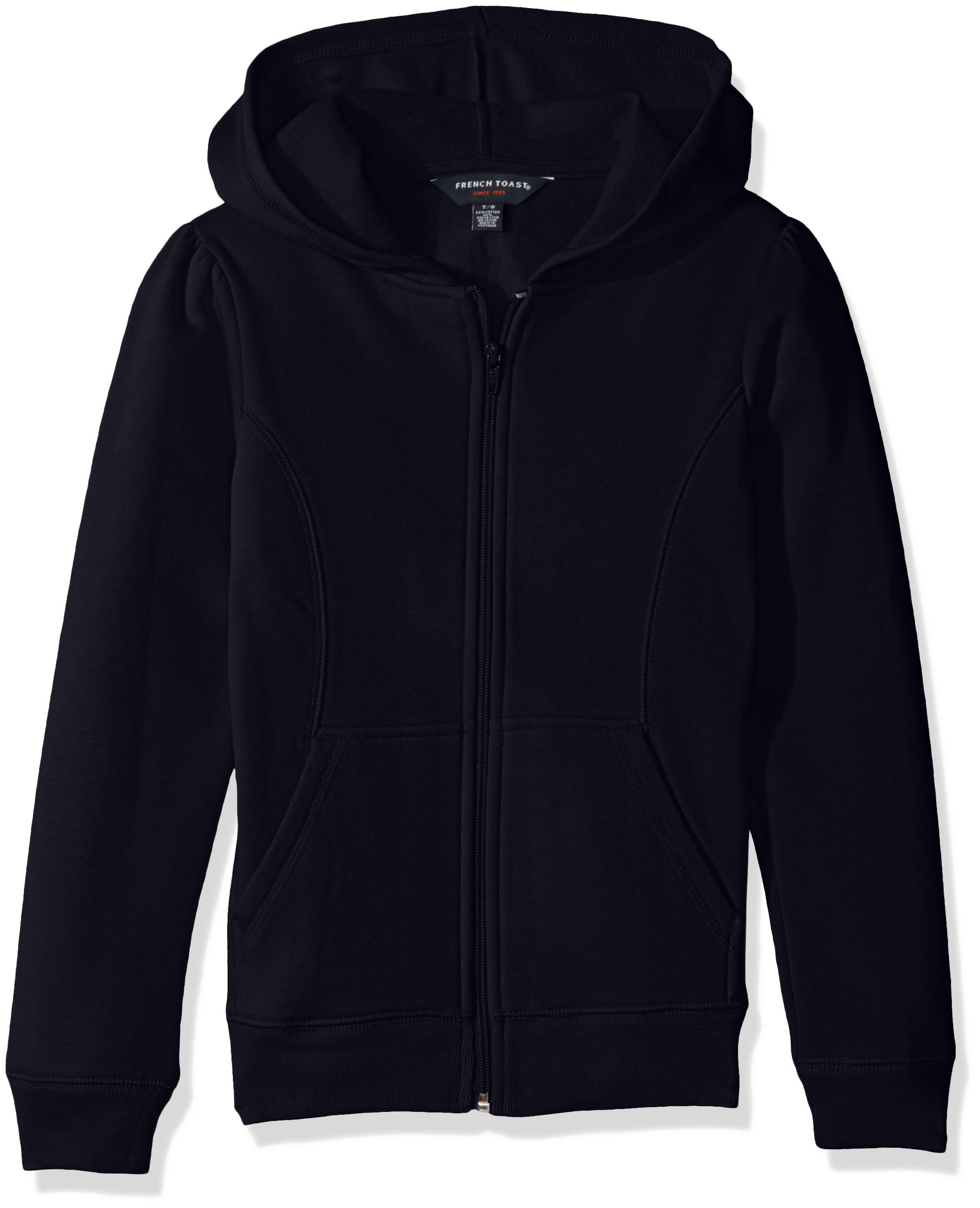 French Toast Big Girls' Fleece Hoodie, Navy, L (10/12) by French Toast (Image #1)