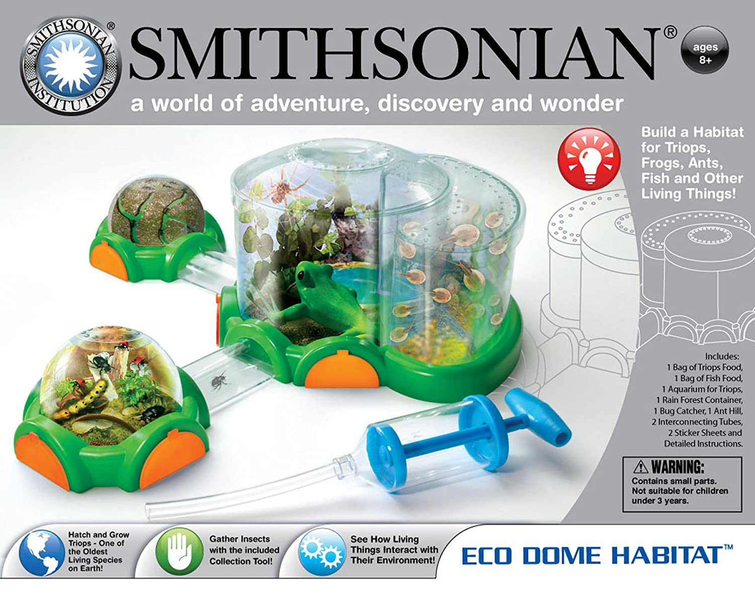 Amazon Smithsonian Eco Dome Habitat With Triops Toys Games