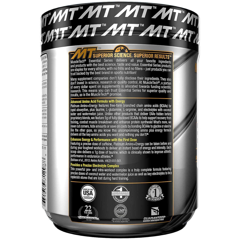 Amazon.com: MuscleTech Essential Series Platinum Amino Plus Energy ...